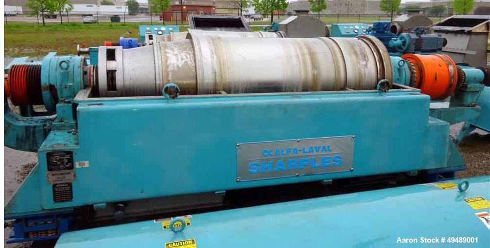 Used- Sharples PM-75000 Super-D-Canter Centrifuge, stainless steel construction