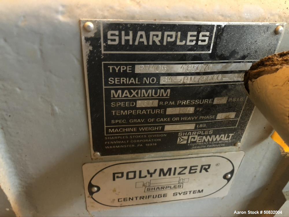 Used- Sharples Decanter Centrifuge