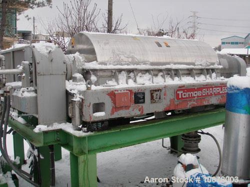 Used-Tomoe Sharples TSM-70 Super-D-Canter Centrifuge. Stainless steel construction (product contact areas), bowl speed 2420 ...