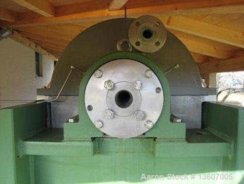 Used- Westfalia CB-300-01-00 solid bowl Decanter Centrifuge.Material of construction is stainless steel on product contact p...