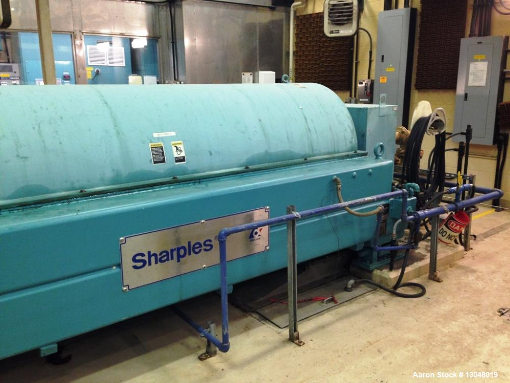 "Used- Sharples XM-706 Super-D-Canter Centrifuge, 316SS. Max bowl speed 2600 RPM, 2780 G's, 360 degree cake dis- charge. 10"" ..."