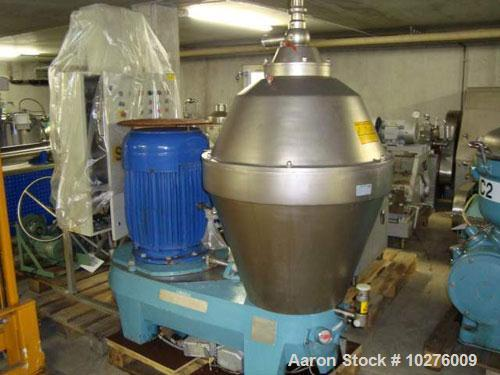 Used-Alfa Laval AX-215S-31B-50 Desludger Disc Centrifuge. 316 stainless steel construction (product contact areas), clarifie...