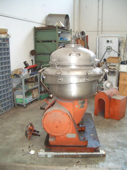 Used-Alfa Laval BRPX-213-35H-11 Desludger Disc Centrifuge, Stainless Steel. Max bowl speed 1420-1500 rpm by an approximate 1...