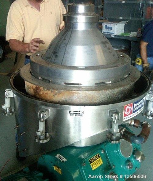 Used-Alfa Laval BRPX-213-BEV-35CG-21-60 Desludging Disc Centrifuge. Stainless steel construction (product contact area), cla...