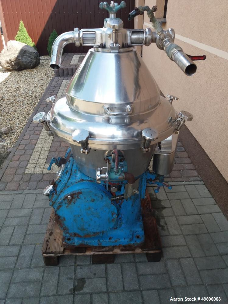 Used Alfa Laval Desludger Disc Centrifuge; Model BRPX 309
