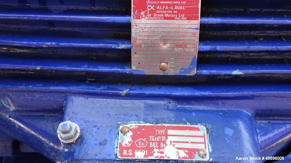 Used- Alfa-Laval CHPX 510 SFD-35CEFGR Desludger Disc Centrifuge