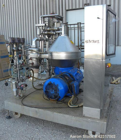 Used- Alfa-Laval Disc Centrifuge, Model CHPX 510-SGD-34CGT-50