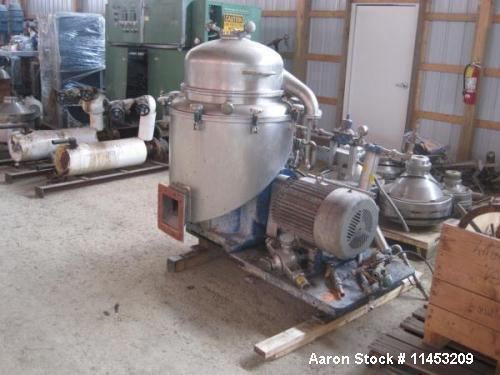 Used-Alfa Laval CRPX-213 Desludger Disc Centrifuge