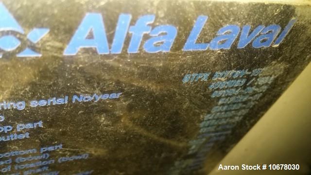 Used- Alfa Laval GTPX-517-TGV-15CEFS Desludger Disc Centrifuge