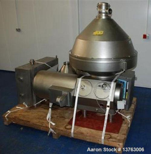 Used-Alfa Laval HMRPX-518-HGV-74-50 Desludger Disc Centrifuge. Stainless steel construction (product contact areas), max bow...