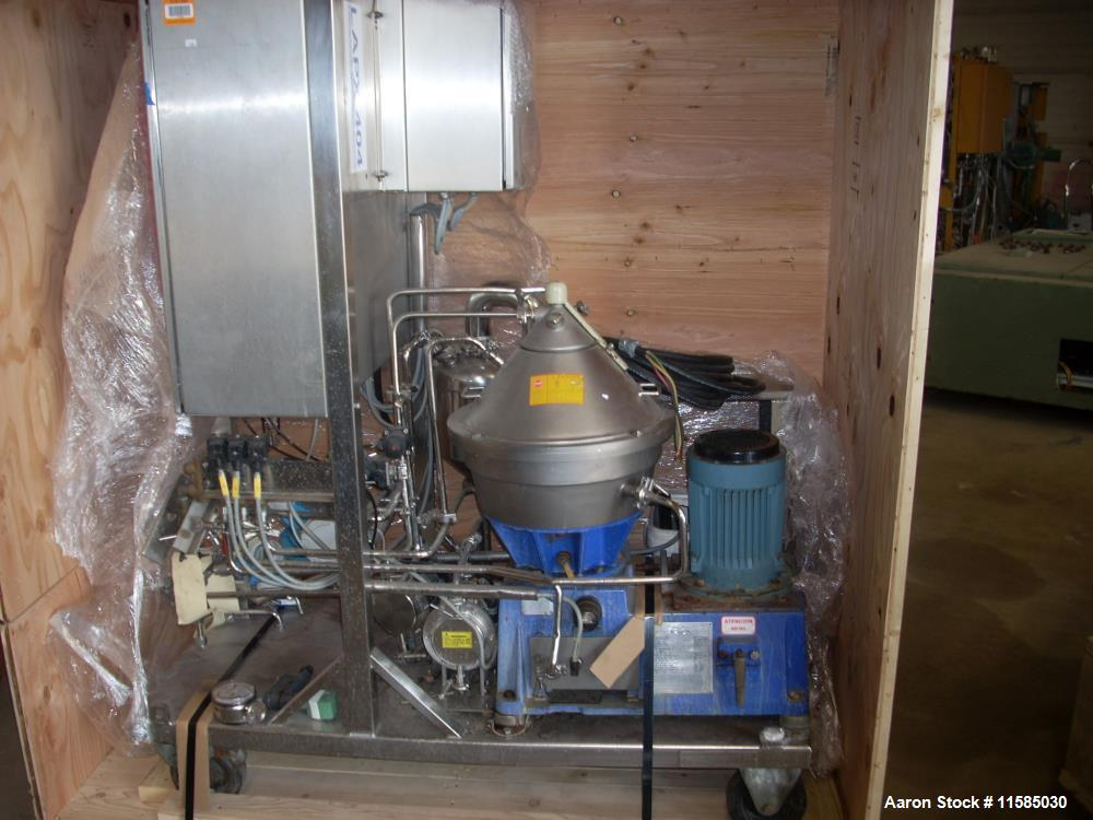 Used- Alfa Laval LAPX-404-SGP-31G Desludger Disc Centrifuge. Stainless steel construction (product contact areas), max bowl ...