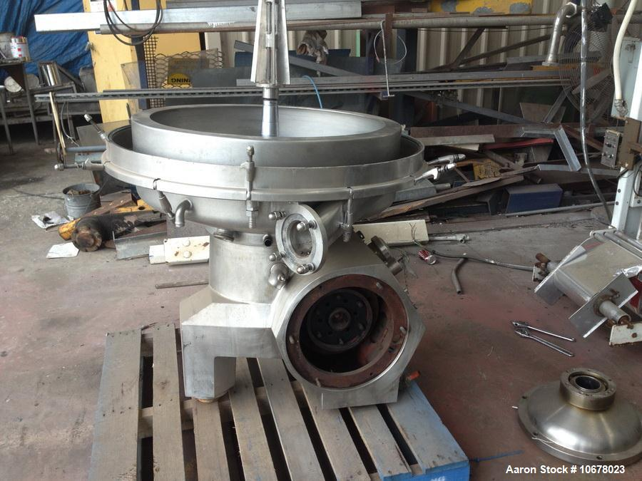 Used- Alfa Laval MRPX 418-TGV-74C Desludger Disc Centrifuge, Stainless steel construction (product contact areas), motor, ba...