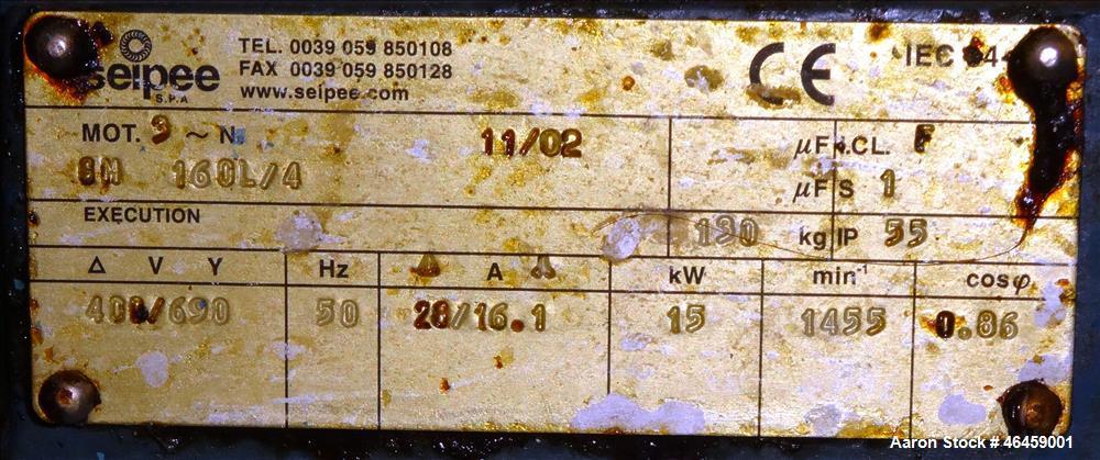 Used- Alfa Laval Desludger Disc Centrifuge, Model SRPX-213 HGV-14H