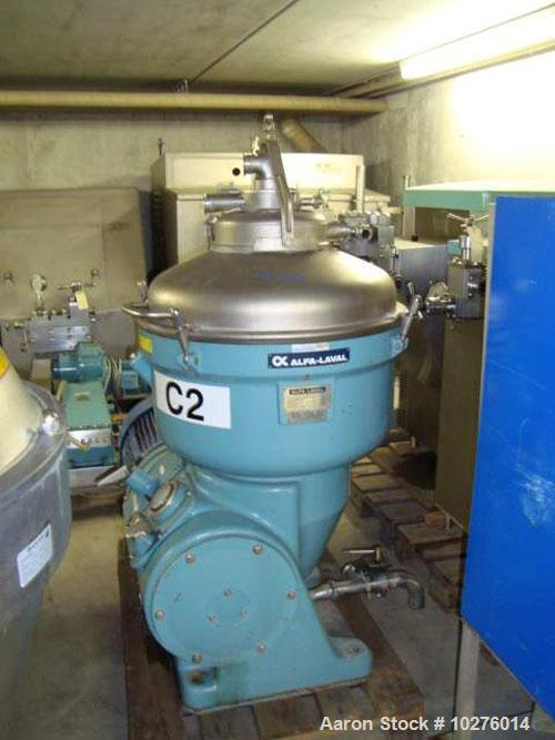 Used-Alfa Laval SSG -214H-14C Desludger Disc Centrifuge. 316 stainless steel construction (product contact areas), clarifier...