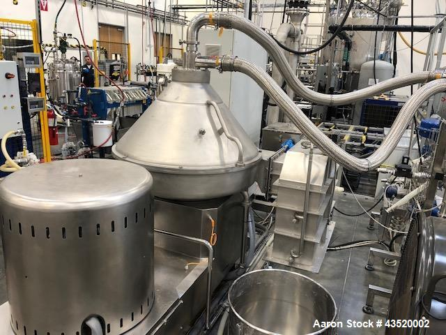 Used- Andritz-Frautech Disc Stack Separator, Model #: CAO 201 PMO. Stainless steel, 46 Liter bowl with 19.7 liter sludge cap...