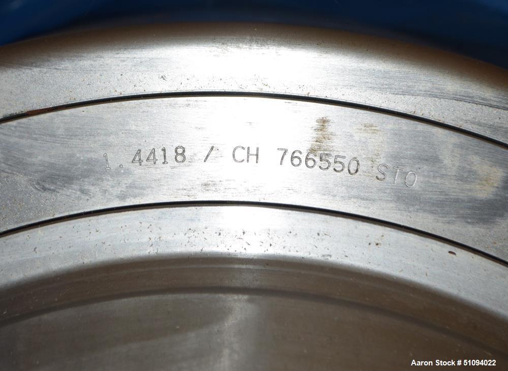 Used- Flottweg AC 2000-430 Desludger Disc centrifuge, Stainless Steel. Maximum bowl speed 5700 rpm, separator design (liquid...
