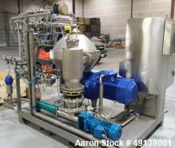 Used- Alfa Laval Brew 301 Centrifuge. Stainless steel.