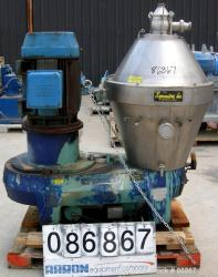 "Used- Alfa Laval BRAX-213S-31B ""Ultra Polishing"" Desludger Disc Centrifuge"