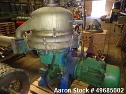 Used- Alfa Laval BRPX-413-XGD-14C Desludging Disc Centrifuge. Stainless steel construction (product contact area). Clarifier...