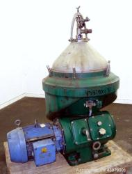 Used- Alfa-Laval Self Cleaning Marine Diesel Oil Purifier Disc Centrifuge, Model
