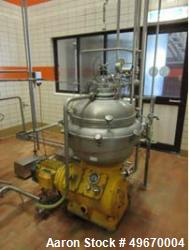 "Used- Alfa Laval MRPX-313-HGV-14 H- 21 Desludger Disc ""cream separator"" Centriuge. 316 Stainless steel construction (product..."