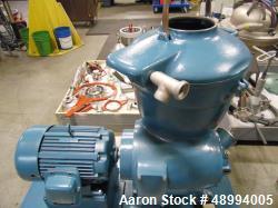 Used- Alfa Laval Centrifuge, Model SMG509H-75C.