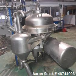 Used- Alfa Laval SRPX-417 HGV-14CH Desludger Disc Centrifuge. 316 Stainless steel construction (product contact areas), sepa...