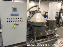 Used- Andritz-Frautech Disc Stack Separator, Model # CAO 201 PMO