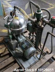 Used- Westfalia Disc Centrifuge, Model SA 1-02-175.