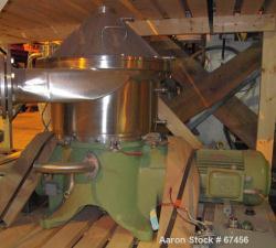 Used- Westfalia CSA-19-06-47 Desludger Disc Centrifuge