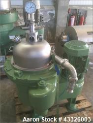 Used- Westfalia OSD-30-03-007 Desludger Disc Centrifuge