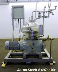 Used- Westfalia SA-20-03-076, Disc Separator Centrifuge. 3 phase High Speed Disc Separator, Self Cleaning Bowl. Includes Mic...