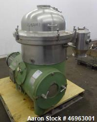 Used- Westfalia SA-40-06-076 Disc Centrifuge, 316 Stainless Steel