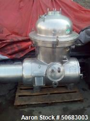 Used- Westfalia SA-40-06-076 Disc Centrifuge