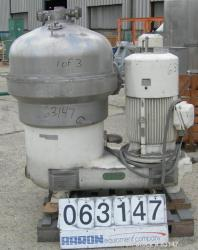 Used- Westfalia SB-60-36-177 Desludger Disc Centrifuge