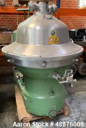 Used- Westfalia SB 80-06-177 Desludger Disc Centrifuge.