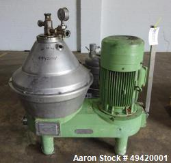 Used- Westfalia Desludger Disc Centrifuge