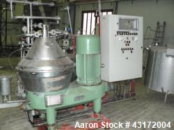 Used- Westfalia SC-35-06-177 Desludger Disc Centrifuge.