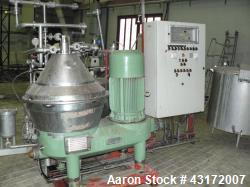 Used- Westfalia SC 35-06-177 Desludger Disc Centrifuge