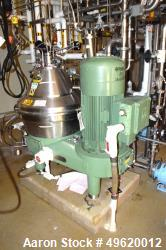 Used- Westfalia SC 35-06-577 Desludger Disc Centrifuge. Stainless steel construction on product contact areas, maximum bowl ...
