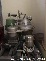 Used- Westfalia SC 35-36-177 Desludger Disc Centrifuge