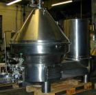 Used-Westfalia MSD-300-01-777 Desludger Disc Centrifuge, stainless steel construction (product contact areas), separator des...