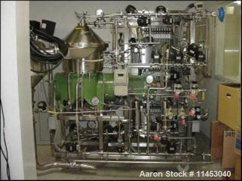 Used-Westfalia CSA-16-06-476 desludger disc centrifuge. Biotech/ultra-polishing design, 316 stainless steel construction on ...