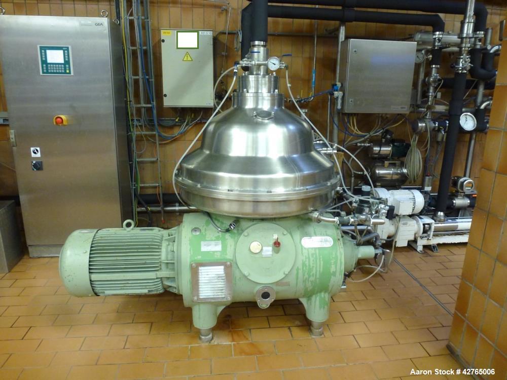 Used- Westfalia CSA 160-47-076 Desludger Disc Centrifuge