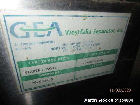 GEA Westfalia NA 7 Clarifier Automatic Bowl Centrifuge