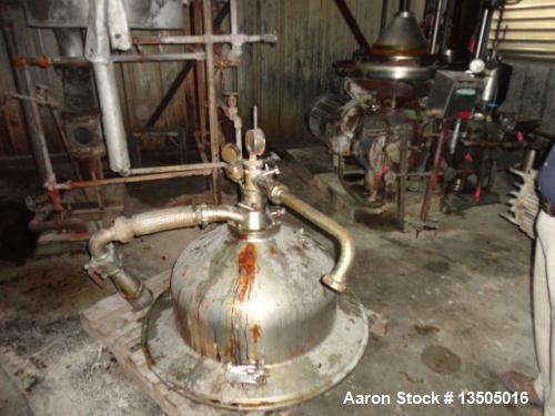 Used- Stainless Steel Westfalia Refining Desludger Disc Centrifuge, RSA-150-01-076
