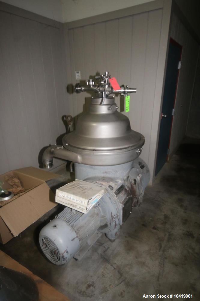"""Used- Westfalia RSA-60-01-076 """"Refining"""" Disc Centrifuge"""