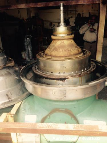 """Used- Westfalia RSA-60-01-076 """"refining"""" Desludger Disc Centrifuge. Stainless steel construction (product contact areas). Ma..."""