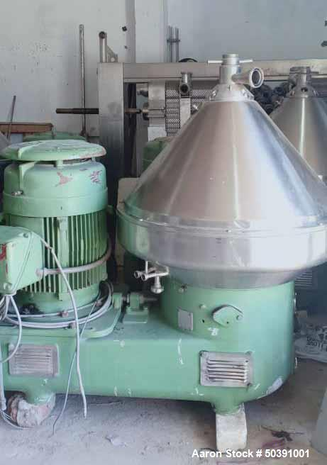 Used- Westfalia SA-100-01-777 Desludger Disc Centrifuge