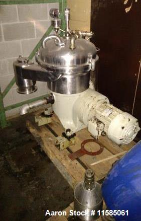 Used- Westfalia Desludger DIsc Centrifuge